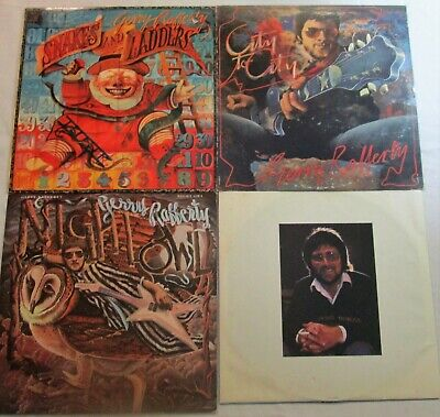 Lot of 3 LPs GERRY RAFFERTY City to City / Night Owl / Snakes and Ladders EX