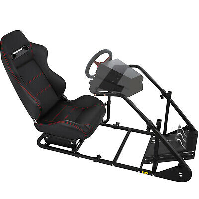 RS6 Racing Simulator Cockpit Gaming Chair W/ Stand For Logitech G29/G920/PS3/PS4