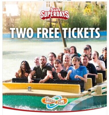 Thorpe Park  - Sun Savers Code - Sunday 19th  May (1 Code)
