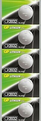 5 x Genuine Replacement GP Flat Lithium Cell 3V Coin Battery CR2032
