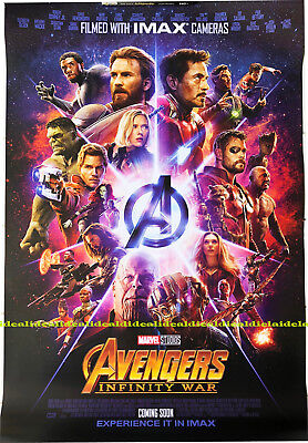 Avengers Infinity War original DS 27x40 POSTER 1sheet int'l IMAX double sided