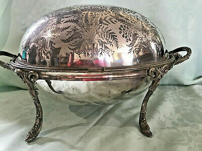 Superb Antique  Silver Plated Revolving Domed Top Breakfast Server- For Restore