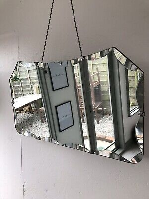 Frameless Mirror art deco beveled edged frameless wall mirror Aged Mirror