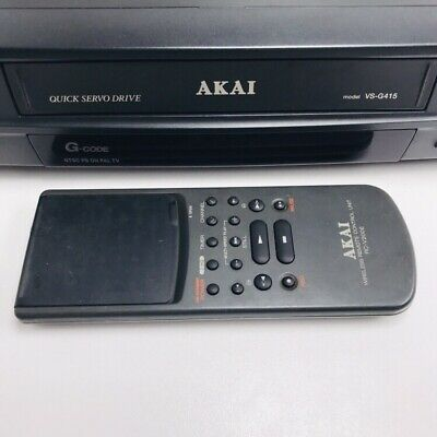 AKAI VS-G415 VCR with remote Tested And Working
