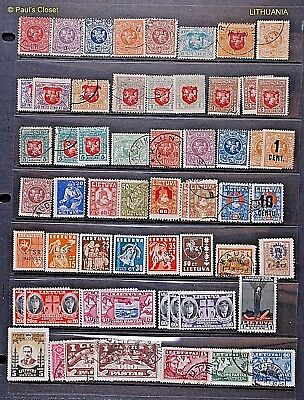 Lithuania Postal & Semi-Postal 1916 -1993 P/O Estate Collection 196 Stamps F/Vf