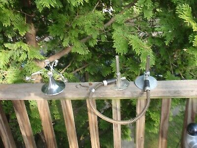 Small Lot Of 3 Vintage Science Lab Hose Clamp  Holders Welch Bunson Burner