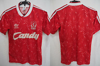 1989-1990-1991 Liverpool FC Jersey Shirt Home Retro Vintage Candy Adidas 36-38