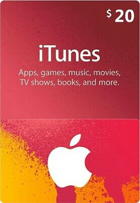 $20 Apple US iTunes Card Gift Card 20 Dollar voucher certificate -FAST DISPATCH