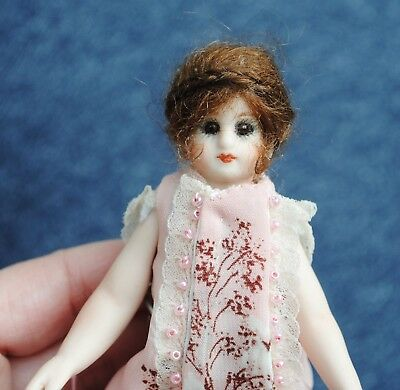 """Antique 5"""" French Mignonette Doll Reproduction Brown Boots"""