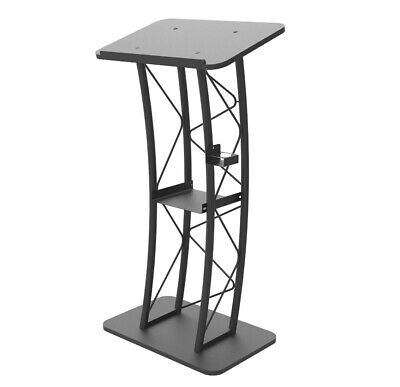 Curved Truss Podium Truss Pulpit Lectern Metal Wood Pulpit Lectern Cup Holder