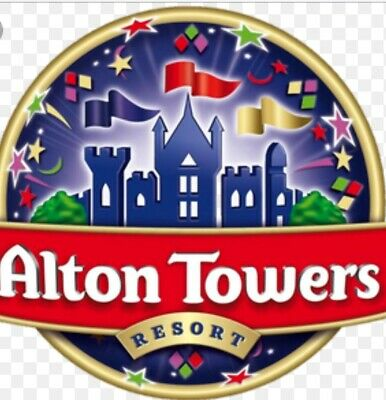 2 x ALTON TOWERS TICKETS FOR SUNDAY 7TH JULY