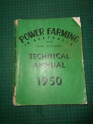 Vintage POWER FARMING TECHNICAL ANNUAL yearly magazine,  single issue 1950