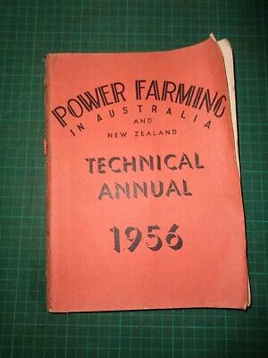 Vintage POWER FARMING  TECHNICAL ANNUAL yearly magazine,  single issue 1956