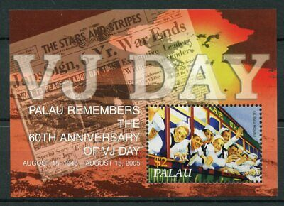 Palau 2005 MNH WWII WW2 VJ Day 60th Anniv World War II 1v S/S Military Stamps
