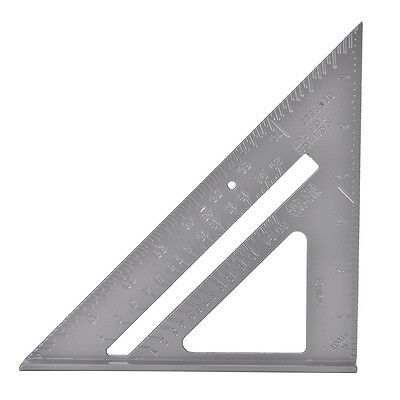 Aluminum Alloy Speed Square Protractor Miter Framing Measurement Carpenter PL HV