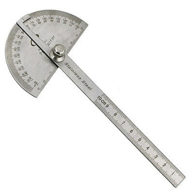 Stainless Steel 180 degree Protractor Angle Finder Arm Measuring Ruler Tools HV