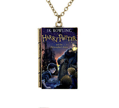 Miniature Harry Potter and the Philosopher's Stone TINY Book Pendant Necklace A
