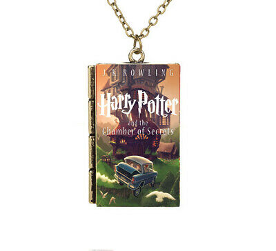 AAA Miniature Harry Potter and the Chamber of Secrets TINY Book Pendant Necklace