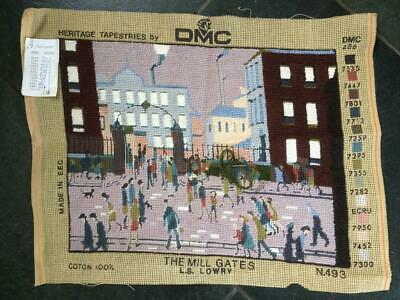 DMC Needlepoint Tapestry Kit 'The Mill Gates' by LS Lowry Cushion Front
