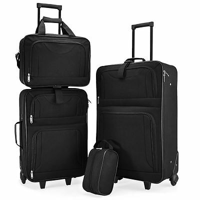 Luggage Suitcase Set Travel Trolley 4 Piece Storage Portable Bag Wheels Baggage