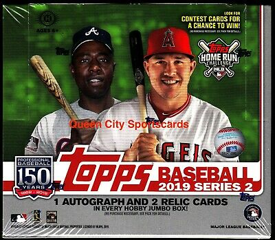 2019 Topps Series 2 Baseball Factory Sealed Jumbo Box