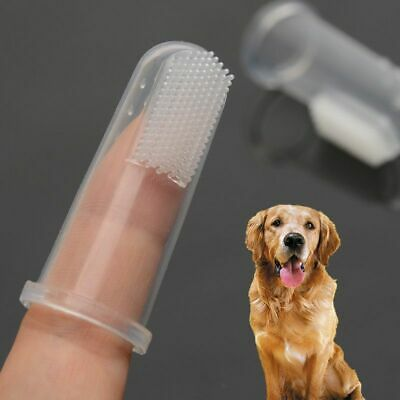 Dog Toothbrush Pet Cat Rubber Finger Tooth Cleaning Brush Teeth Cleaner Glove