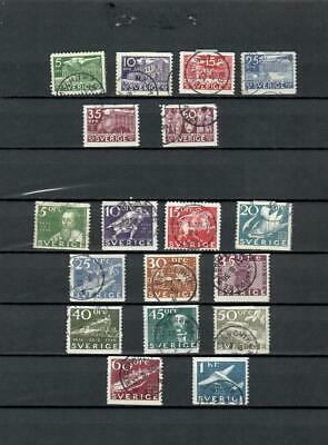 Sweden Collection Of  Used Different Classic Stamps -  Lot (Swed 50)