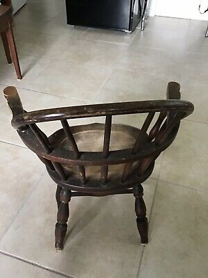 Antique Childs Wood Chair