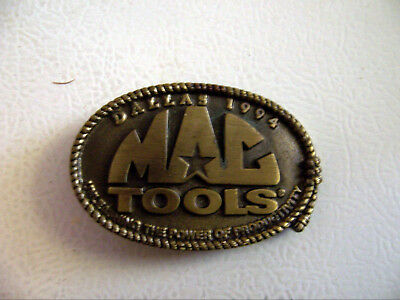 **Mac Tools** Company Leather Belt Buckle Dallas 1994