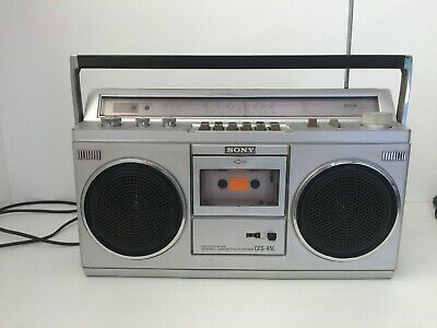 Vintage Sony CFS-45L Boombox Stereo RADIO Cassette-Recorder Ghetto Blaster