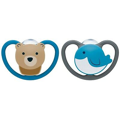 NUK 0-6 Months Bird & Bear Space Orthodontic Pacifiers 2-Pack