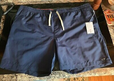 aac3734be8938 Vineyard Vines Target Mens Swim Trunks Shorts Bathing Suit Navy Blue XXL  RARE!