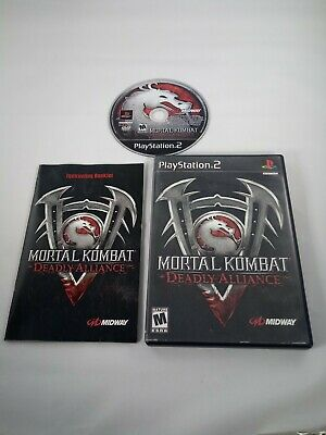 Mortal Kombat: Deadly Alliance Sony PlayStation 2 PS2 - Case + Manual