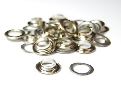 IRON - Metal Eyelet Grommets & Washer Findings - For Leather Craft Clothing Flag