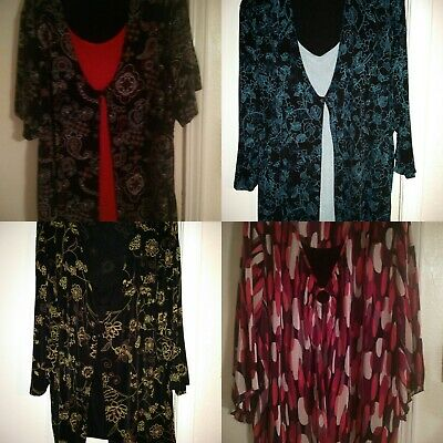 (4) lot of Studio 1940 / Maggie Barnes 4XL Womens plus size tops - Nylon/Spandex