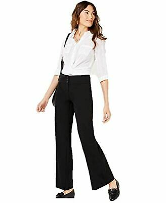 Style & co. Stretch Wide-Leg Pants in Deep Black 14L