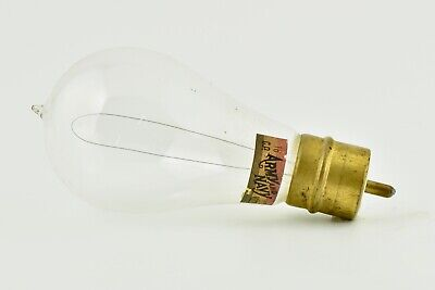 Rare Edison Era Westinghouse Base Antique Army Navy Light Bulb Vintage 1890's