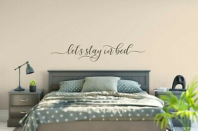 Let S Stay In Bed Decal Wall Words Vinyl Lettering Bedroom
