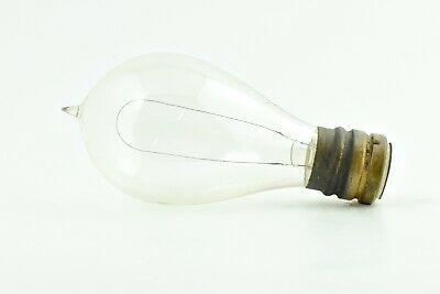Antique Thomson Houston Base Vintage 1890's Hairpin Light Bulb Edison Era Intact