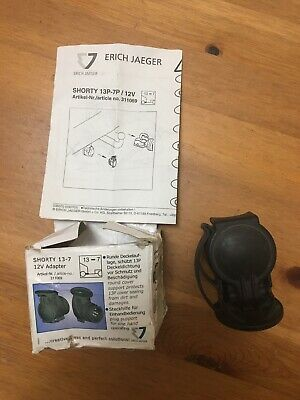 Erich Jaeger 13 - 7 Pin 12V Shorty Towing Adaptor For 12N Plug Caravan / Trailer