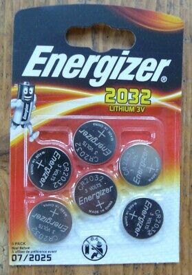 Brand New Energizer CR2032 3V Lithium Coin Cell Battery 2032 - Pack of 6