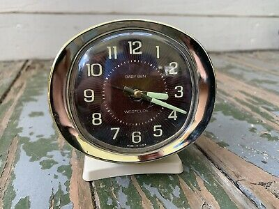 Vintage Baby Ben Westclox Made in USA WORKING NICE Vintage Clock Wind Up RETRO