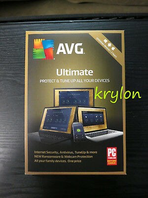 AVG Ultimate 2019 Unlimited PC Mac Devices 2 Years Physical Version Retail Box