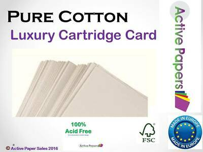 Cotton pure cartridge 160gsm  Metric & Imperial sizes + Free Blotting paper