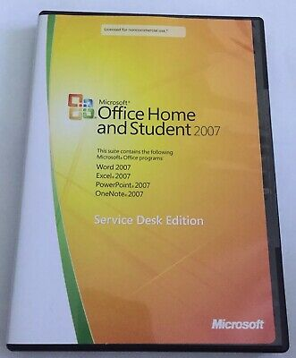 Microsoft Office Home and Student 2007- Service Desk Edition w/ Key Free Shippin