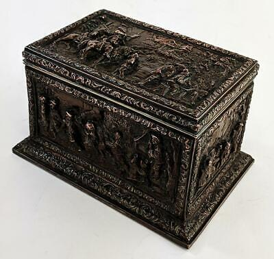Victorian 17Th Century Style Electrotype Casket /  Box 19Th Century