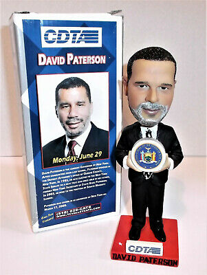 New York Governor DAVID PATERSON Rare Bobblehead 2009 Valley Cats Promo Armison