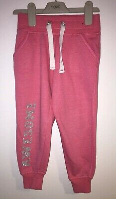 Girls Age 4-5 Years - Jogging Bottoms - Cuffed  Pink