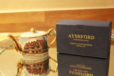 Ayshford Fine Bone China Miniture Teapot Boded And In Excellent Condition