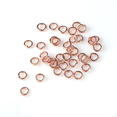 100x Rose Gold Plated Strong Alloy Open Jump Rings Split Rings 4x0.7mm(B0100159)